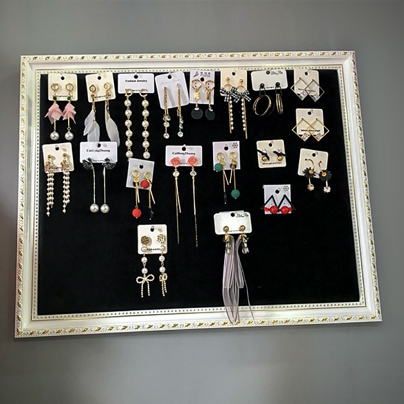 饰品墙上挂版耳环背景展示板服装店耳坠耳钉项链首饰绒布墙面架子