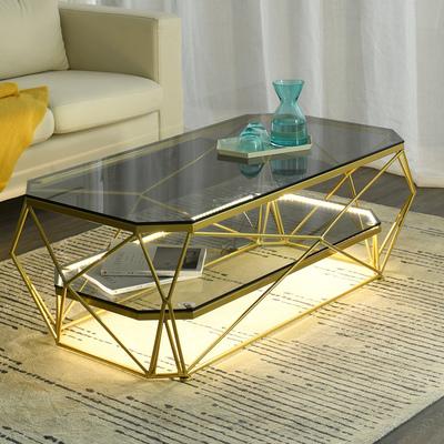 简约现代茶几小户型客厅长方形玻璃桌北欧设计师家具网红创意艺术