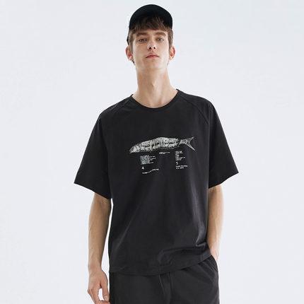 马克华菲夏新款商场同款趣味t恤