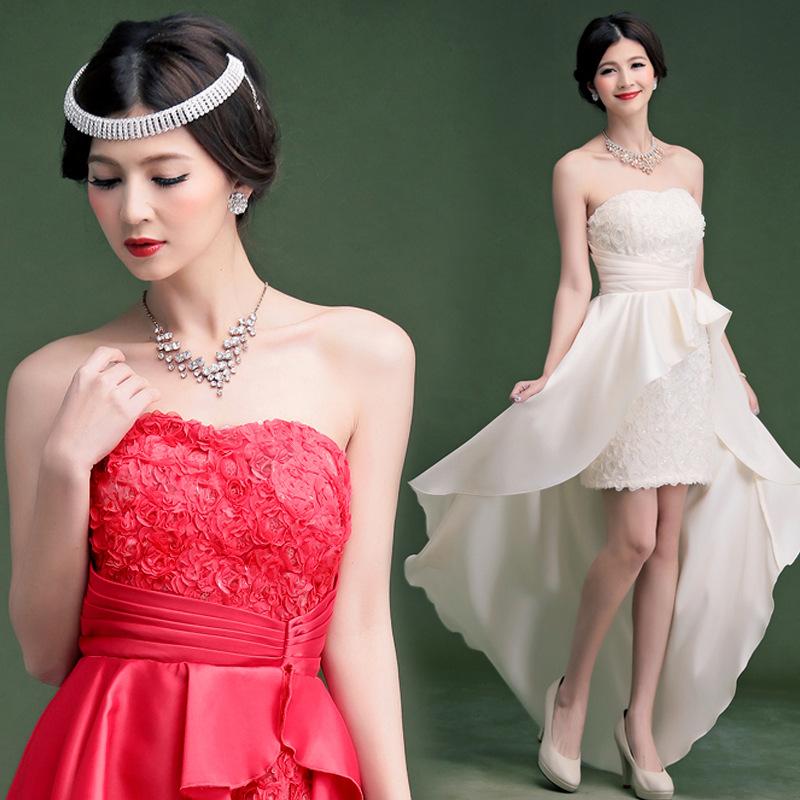 Cuiying 2016 summer new bra shaped Tuxedo Dress Bridesmaid Dress