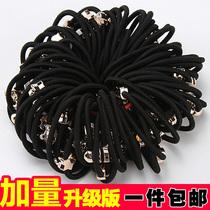 无缝头绳高弹力耐用珍珠发圈韩国扎头发饰橡皮筋不伤发饰多根套装