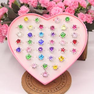儿童宝宝女童首饰品幼儿园奖品礼品赠品玩具仿水晶宝石钻石戒指图片