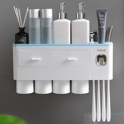 简约漱口杯刷牙杯子置物架家用洗漱杯情侣牙缸三口之家牙刷杯套装