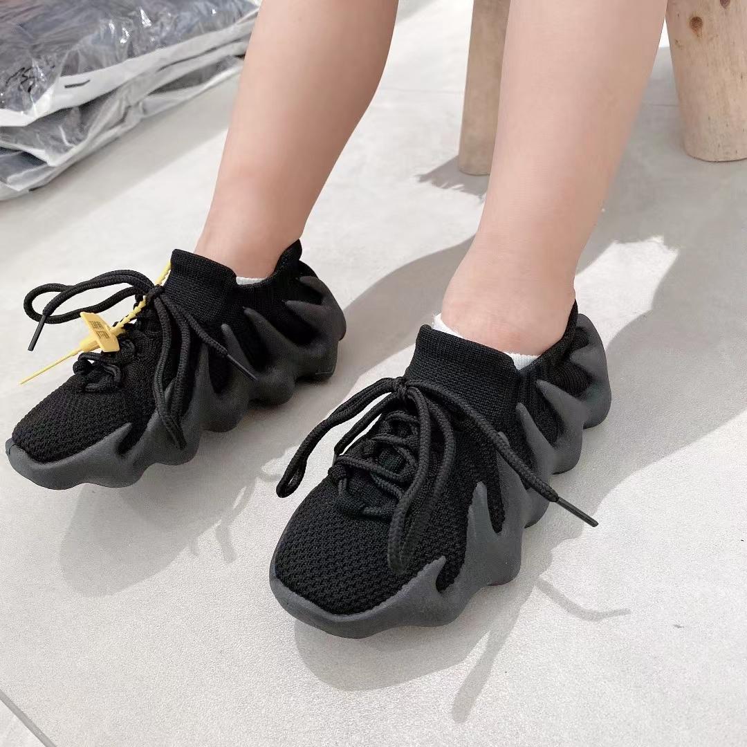 韩国男童女童运动鞋针织椰子鞋2021秋款新款儿童透气八爪鞋跑步鞋