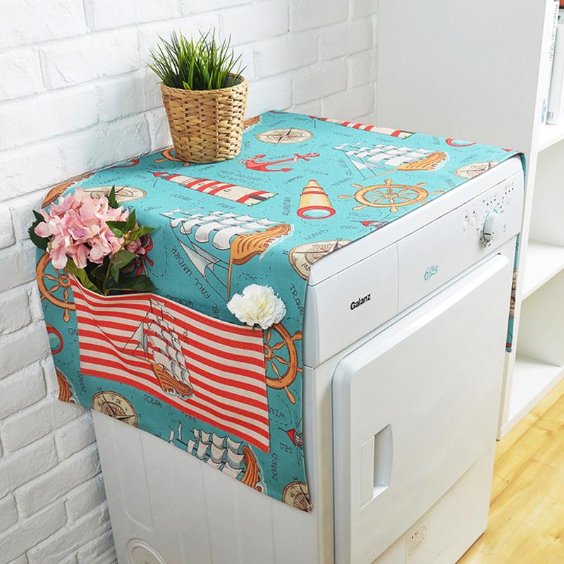 Средиземноморье ролик автоматический стиральная машина крышка общий обложка тканевая список открытых холодильник пыленепроницаемый ткань льняная ткань ткань полотенце