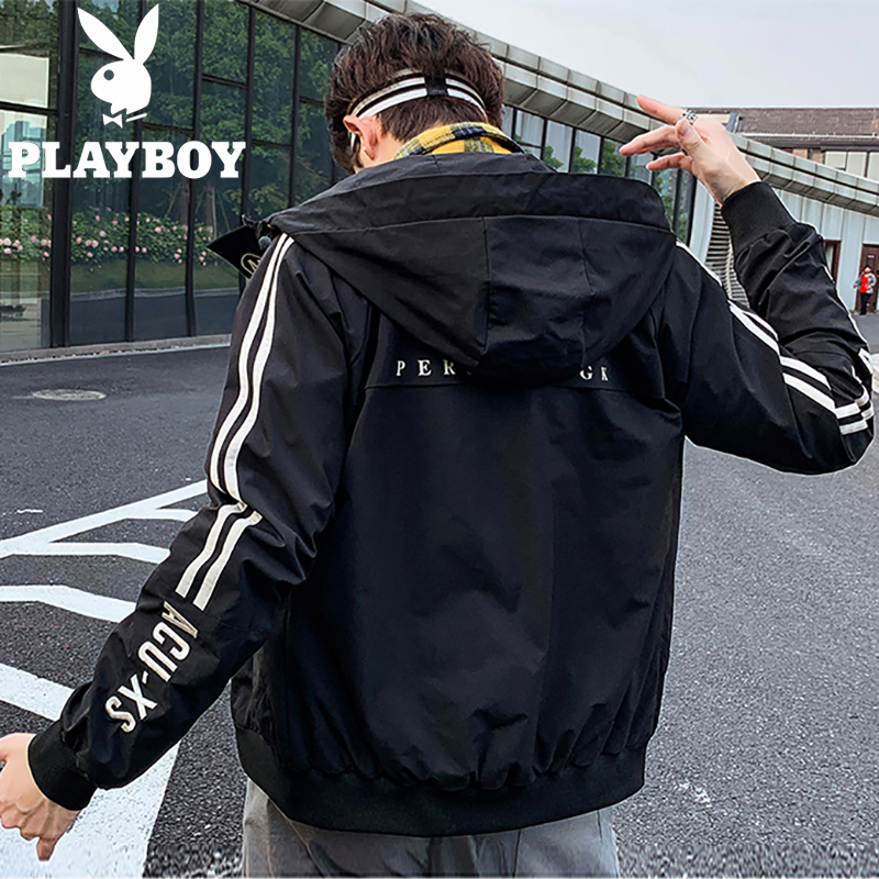 Playboy jacket mens casual sports trend in spring and Autumn