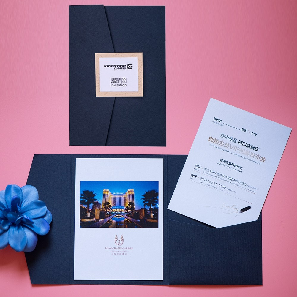 Business invitation card european-style letter custom图片