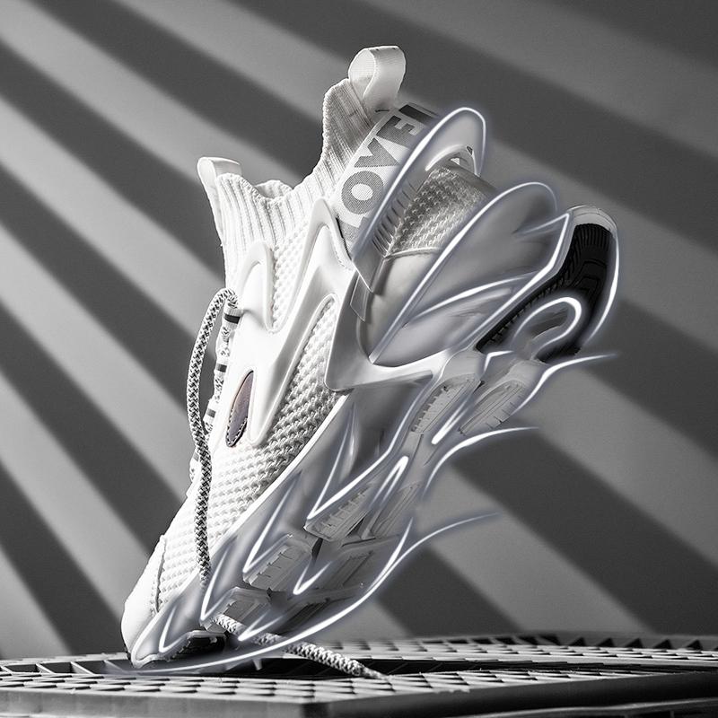 夏季透气网面跑步刀锋百搭新款男鞋怎么样