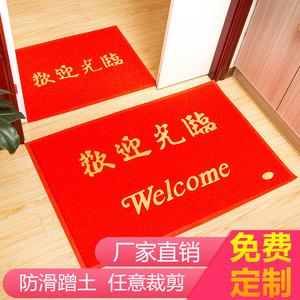大门口出入平安地垫进门蹭脚垫入户门垫欢迎光临加厚防滑地毯家用