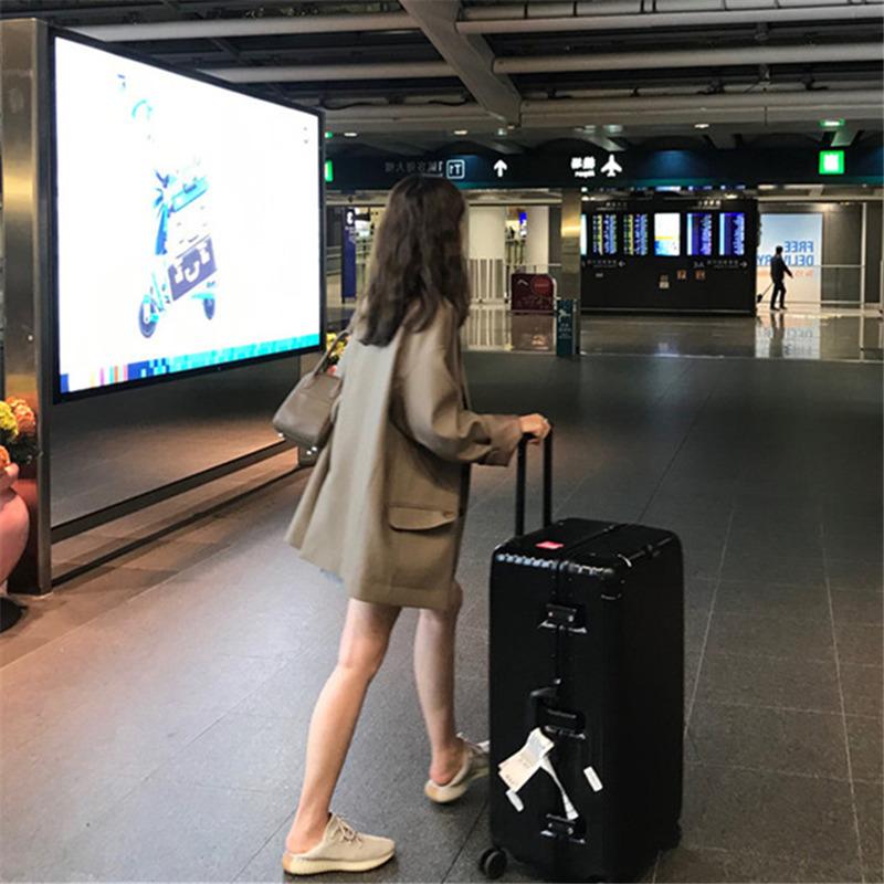咖色西装外套女韩版2020新款春秋英伦风宽松中长款气质西服上衣