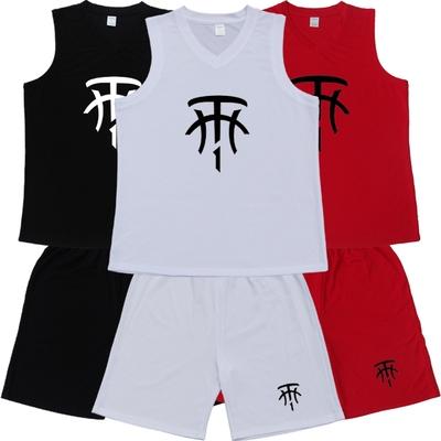 麦迪麦蒂大LOGO宽肩球衣成人款儿童篮球训练服套装定做加肥加大码