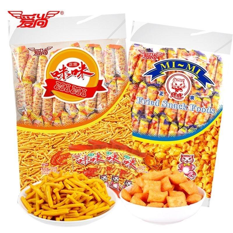 ミミ海老とカニの味の粒大人のおやつとカジュアル食品のポテトチップスの大きなプレゼント箱に包装されています。