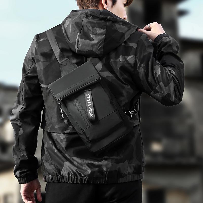 Chest bag mens single shoulder bag leisure sports trend mens Bag Messenger Bag Fashion youth backpack students Korean version
