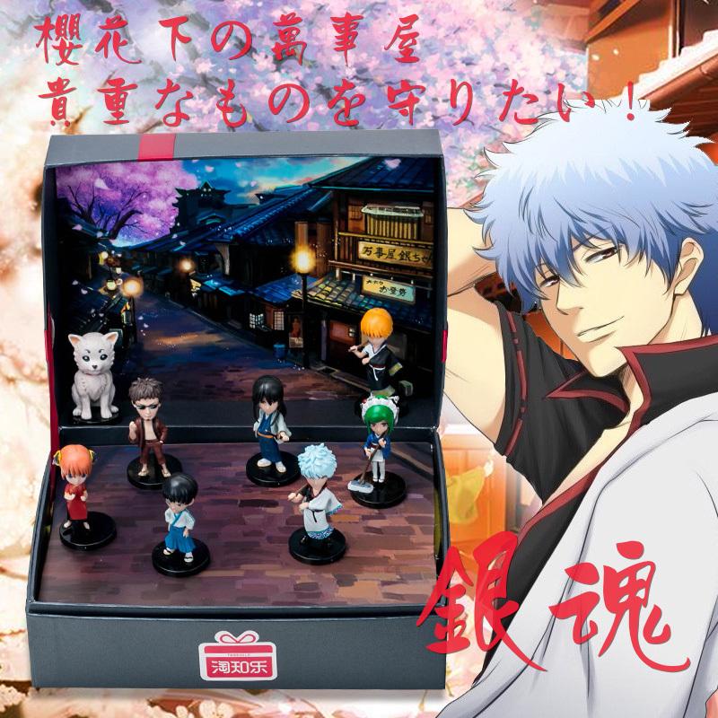 銀魂志村新八坂田銀時、人形のフィギュアを男の子にプレゼントします。