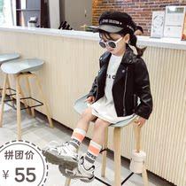 新款儿童女装拼色秋款开衫女童韩版夹克2019女大童秋季棒球服外套