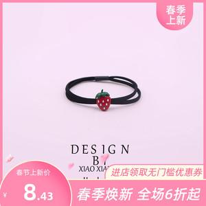 韩版草莓发圈发饰头绳水果发绳扎头发皮筋樱桃头箍可爱胡萝卜发圈
