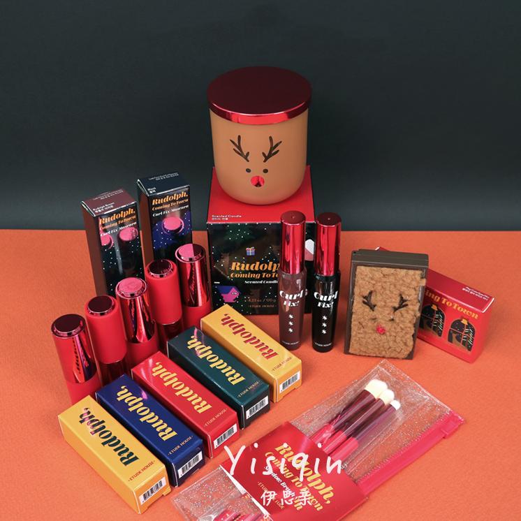 韩国爱丽小屋伊蒂之屋2019圣诞限量麋鹿睫毛膏眼影口红刷子护手霜图片