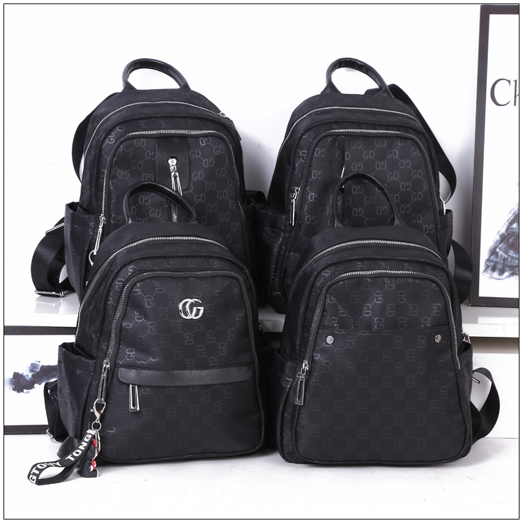 2019 new fashion printing large capacity canvas waterproof backpack leisure travel backpack college style student schoolbag