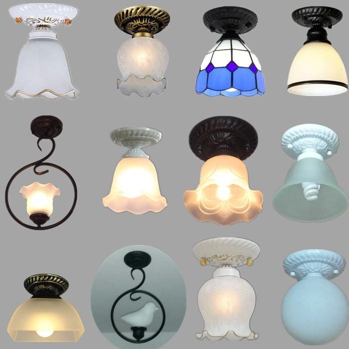灯厕所灯欧式小吸顶灯灯罩阳台卫生间led走廊灯过道玄关灯家用
