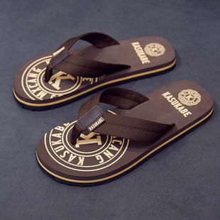 男夏季 外穿布带个性 沙滩鞋 拖鞋 凉鞋 室外凉拖潮软底夹脚防滑人字拖