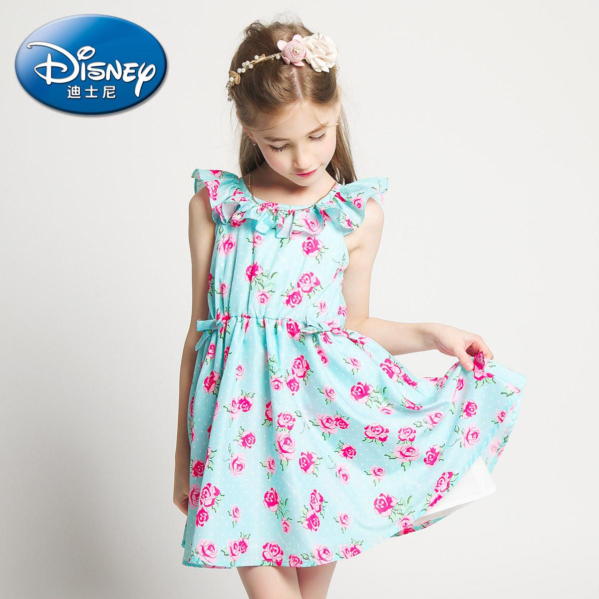 迪士尼印花 兒童連衣裙