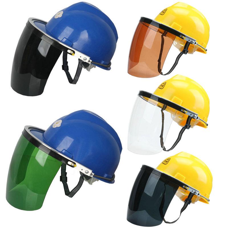 安全帽面屏防飞溅支架面屏防护面罩电焊打磨?#33713;?#20987;配强化式面罩