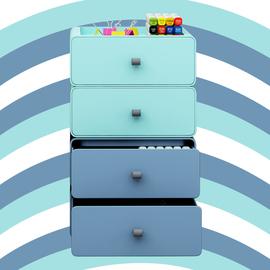 办公室桌面抽屉式收纳盒多层ins学生文具储物小盒子书桌整理神器