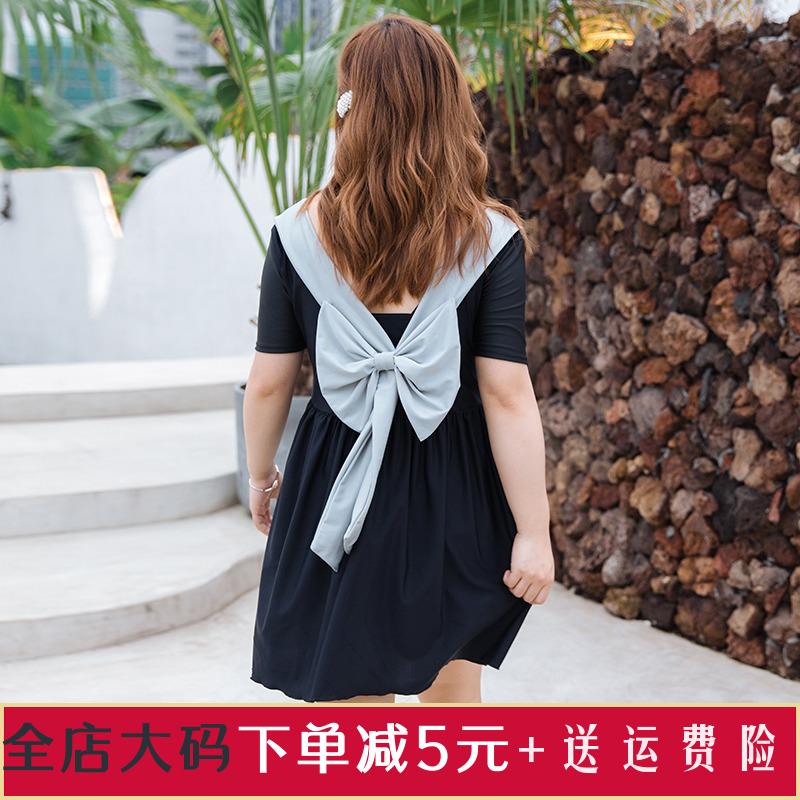大码胖mm遮肚显瘦ins风连体裙式斤10月21日最新优惠