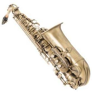 调演奏乐器E萨克斯风黄铜仿古青铜色管体中音按键降FLOFAIR