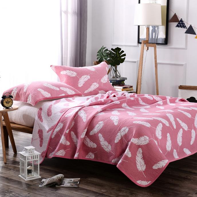 纯棉毛巾被枕巾全棉加厚盖毯午睡毯四层纱布单双人羽毛三件套包邮