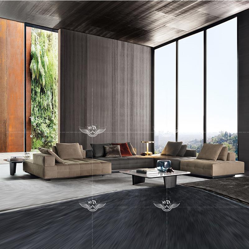 Rafamariner high-end custom furniture Minotti Italian simple Italian living room multiplayer sofa