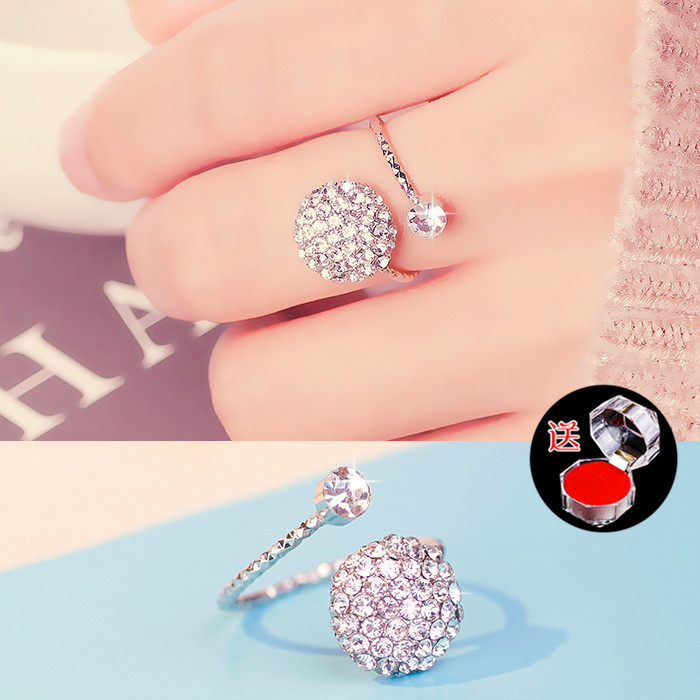 Opening ring female fat hand female accessories clasp ring ring ring middle finger cute decoration girl little girl