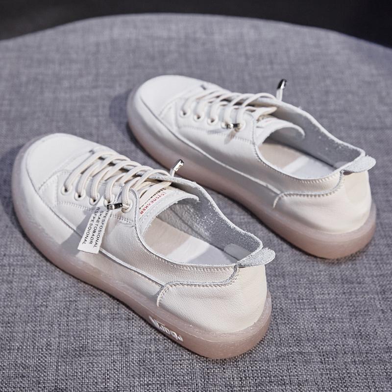 真皮小白鞋女2020大东新款女鞋百搭爆款牛筋软底孕妇鞋平底板鞋春