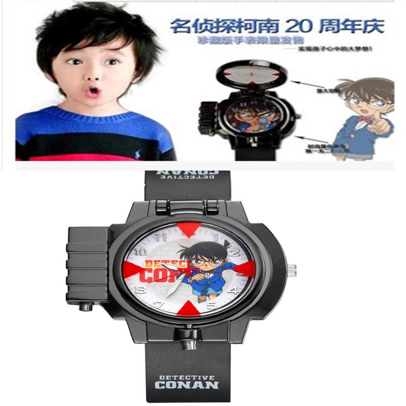 名侦探柯南儿童表男学生手表红外线多功能激光表动漫二次元卡通表