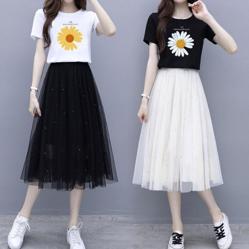 套装/单件 小雏菊套装裙子女夏2020新款两件套时尚潮学生韩版女装
