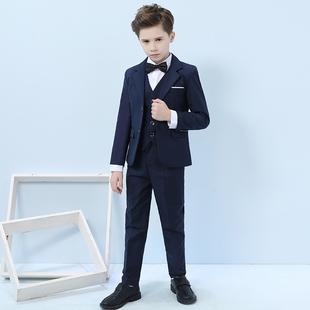 帅气儿童西装套装三件套英伦小西服男童礼服洋气中大童钢琴演出服