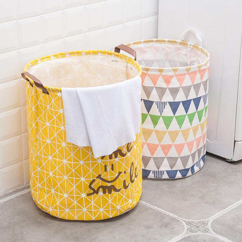家居卡通布艺脏衣篮折叠牛津布收纳桶大号杂物收纳脏衣篓洗衣篮
