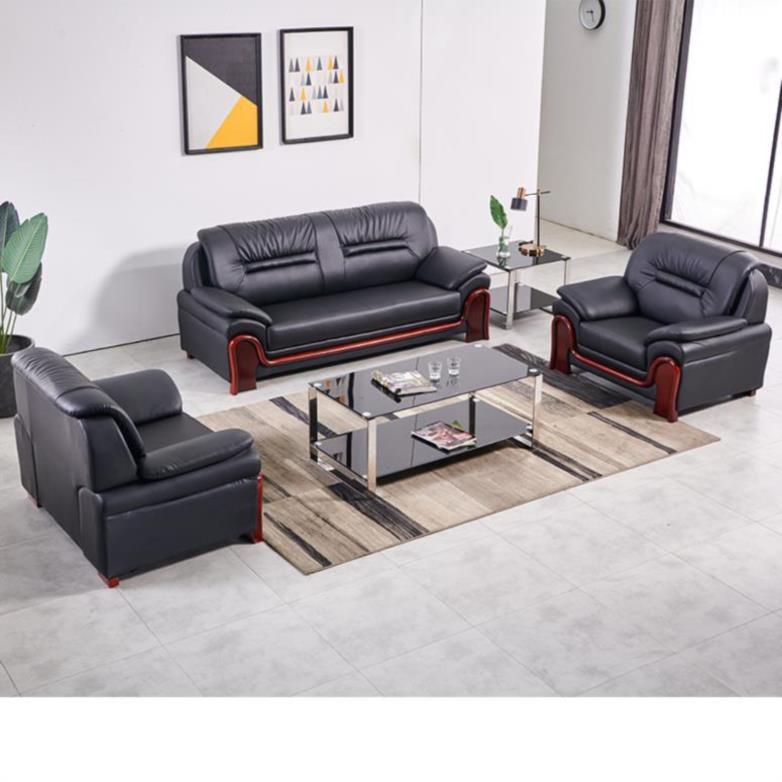 三人轻办公沙发小户型折叠家用拼接卧室桌咖啡厅皮革家具四人风格