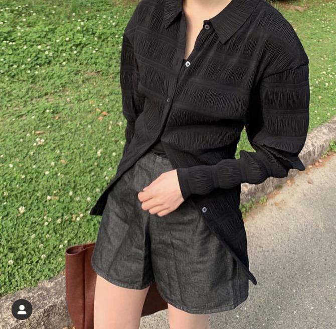 衬衫 瑞典小众toteme 显瘦长袖 Anzi褶皱轻薄修身 女 怎么穿都好看