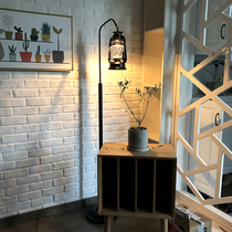 北欧式客厅卧室书房美式简约现代遥控调光创意茶几实木立式落地灯