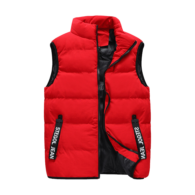 Saipan An Mens waistcoat autumn and winter sleeveless jacket youth warm vest cantilevered casual down cotton vest