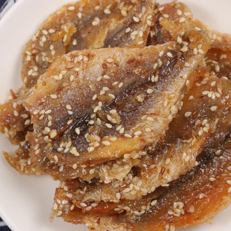 烟台特产芝麻蜜汁黄花鱼500g包邮小黄鱼干烤鱼片即食海鲜零食小吃