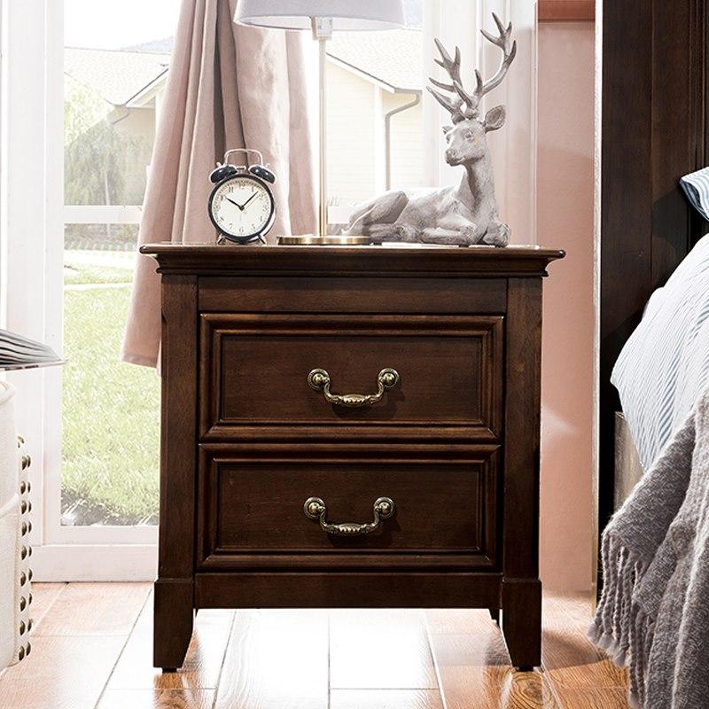 美式乡村做旧实木床头柜现代简约边几收纳柜斗柜储物柜卧室家具