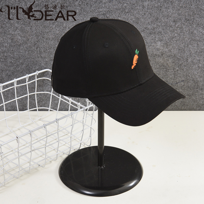 Youdila parent child hat new black cap in summer 2019 couple travel minority embroidered carrot hat
