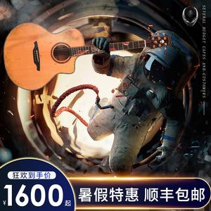 亞伯拉罕吉他星語心愿工業時代仲夏之夜深海奇緣41寸民謠吉他