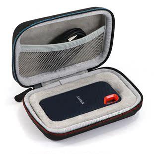 适用SanDisk闪迪SSD固态移动硬盘250G/500G/1TB/2TB收纳盒保护包