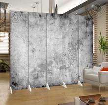 水泥背景墙可折叠屏风隔断时尚客厅玄关 酒吧服装摄影拍照YY主播