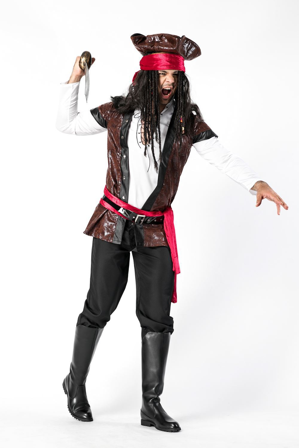 Pirate costume uniform Pirates of the Caribbean Costume role play Pirate Costume Halloween man