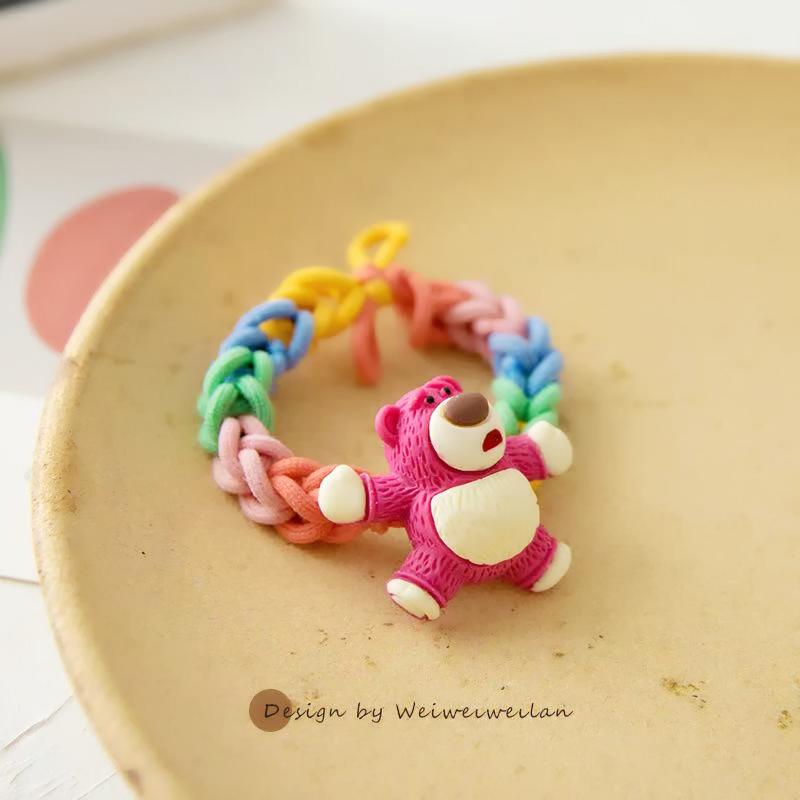 成品手工编织手环小熊diy手表创意手编毛线手链情侣闺蜜自制礼物