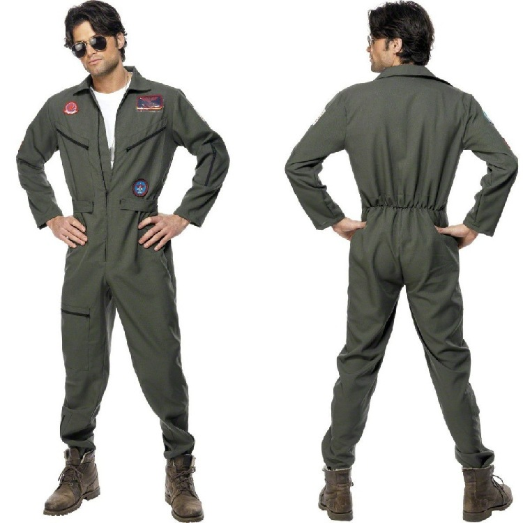 Halloween Costume role play worker costume air pilot costume sea fireman costume performance costume man
